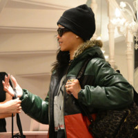 Rihanna chez Chantal thomass à Paris, novembre 2012