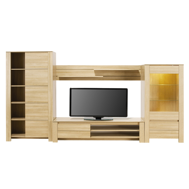 meuble tv mural but. Black Bedroom Furniture Sets. Home Design Ideas