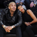 Rihanna et Chris Brown passent Noël ensemble en allant assister à un match de basketball à Los Angeles, le 25 décembre 2012.