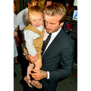 David et Harper Beckham à New York le 8 septembre 2013