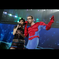 Photo : Christophe Willem en duo avec Liane Foly