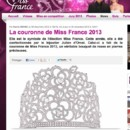 Capture écran du site officiel de Miss France.