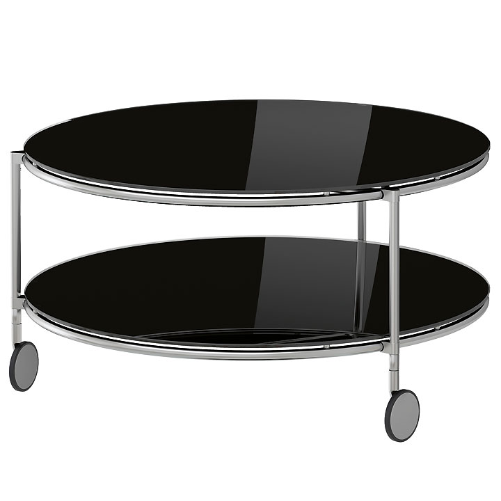 10 tables basses canon pour habiller son salon table basse ronde strind ike - Table ronde en verre ikea ...