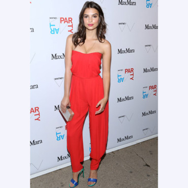 Emily Ratajkowski lors d'une réception au Whitney Museum of Art à New York City, le 8 mai 2014 Photo