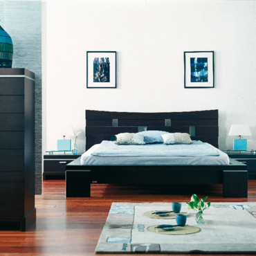 lit 2 places gautier collection yoko objet d co d co. Black Bedroom Furniture Sets. Home Design Ideas