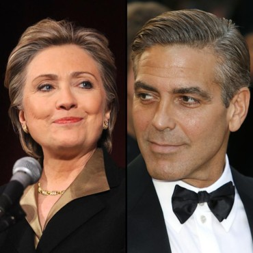 Hillary Clinton et George Clooney