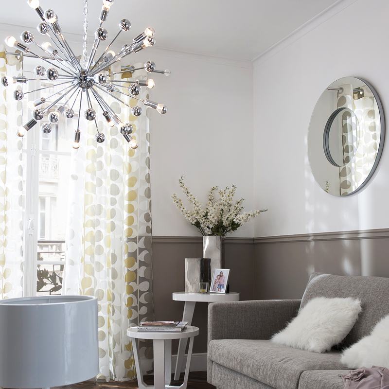 30 suspensions au design canon pour bien clairer son for Lustre de salon moderne