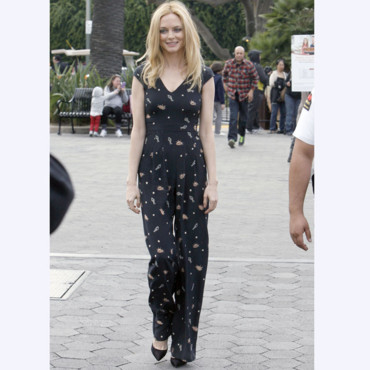 Heather Graham aux studios Universal à Los Angeles, le 7 Janvier 2014
