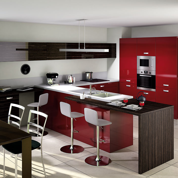 catalogue cuisine d couvrez les nouveaut s 2011 chez cuisinella cuisine light rouge majestic. Black Bedroom Furniture Sets. Home Design Ideas