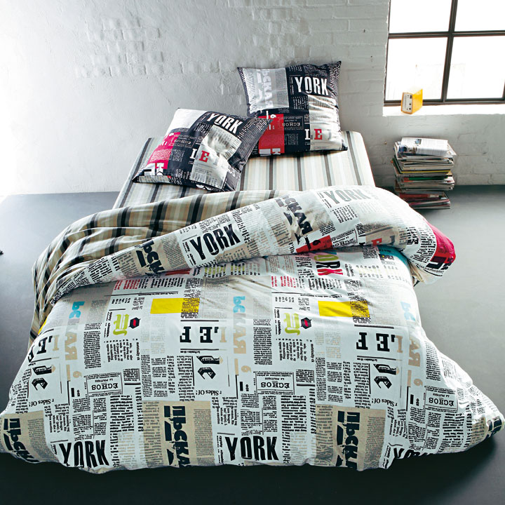3 suisses une collection de linge de lit tout en fantaisie parure newspaper 3 suisses. Black Bedroom Furniture Sets. Home Design Ideas