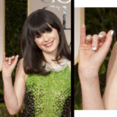 Zooey Deschanel Golden Globes 2012 vernis à ongles smoking