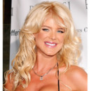 Victoria Silvstedt, le top model suédois, à 29 ans, à New York le 27 octobre 2004.