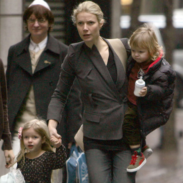 Gwyneth Paltrow avec ses enfants Apple et Moses