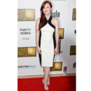 Julianne Moore en robe bicolore et moulante Jason Wu