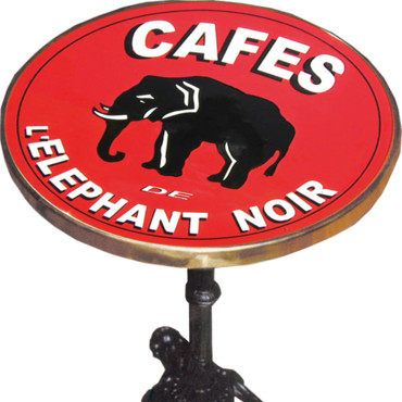 Table Replica Eléphant noir