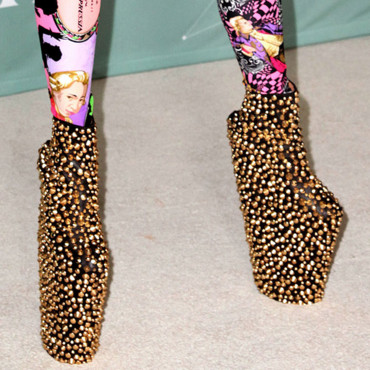 A qui sont ces chaussures ? Lady Gaga