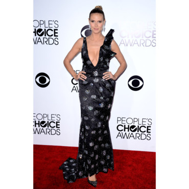 Heidi Klum en Giorgio Armani aux People's Choice Awards à Los Angeles le 8 janvier 2014