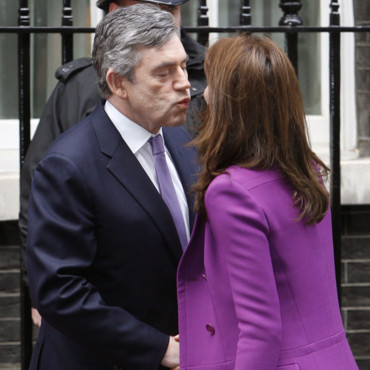Carla Bruni et Gordon Brown