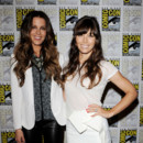 Jessica Biel et Kate Beckinsale au Comic-Con pour Total Recall juillet 2012 brushing et tie and dye