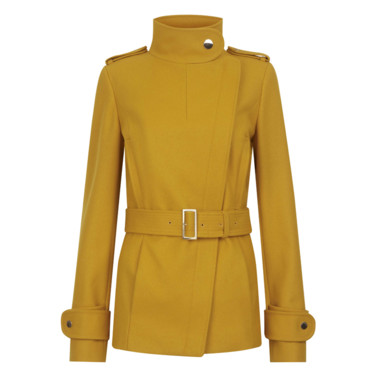 Le manteau court moutarde Ted Baker