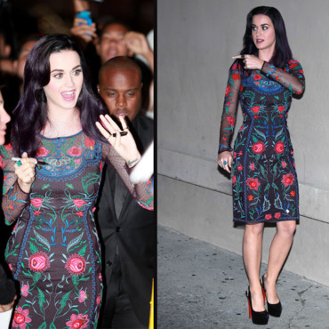 Katy Perry en look fleuri