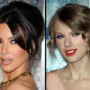 Kim Kardashian et Taylor Swift aux People Choice Awards