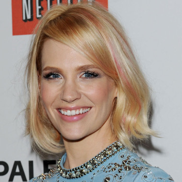 January Jones et ses mèches roses