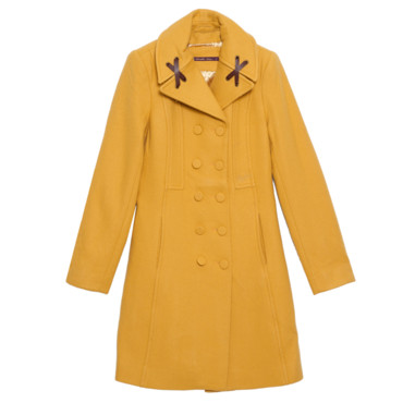 Le manteau jaune moutarde Teddy Smith 199 euros