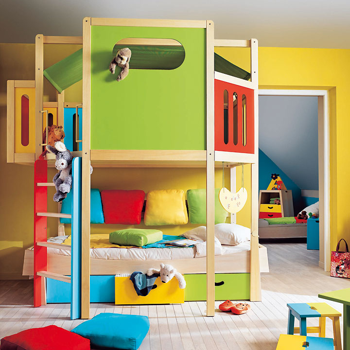 am nager une mezzanine dans une chambre d 39 enfant astuces d co. Black Bedroom Furniture Sets. Home Design Ideas