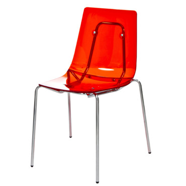 Chaise rouge transparente ikea meuble de salon contemporain - Chaise rouge transparente ...