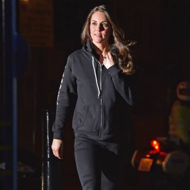 Kate Middleton en sweatshirt à Londres le 16 décembre 2014