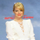 Emma Stone chignon en promotion de the Amazing Spider-Man juin 2012