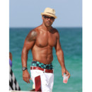 Shemar Moore de Esprits Criminels  Miami juillet 2012