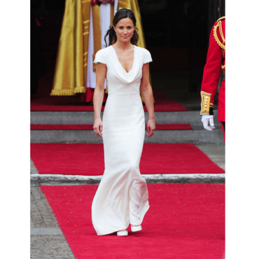 Pippa Middleton dans sa robe Alexander Mc Queen