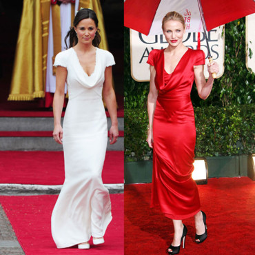 Pippa Middleton vs Cameron Diaz Alexander Mc Queen