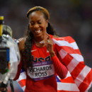 Manucure JO 2012 Sanya Richards-Ross médaille d'or 400 m