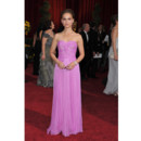 Mode Natalie Portman en robe rose