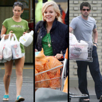 Photo : Les stars au supermarché