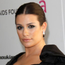 Lea Michele maquillage vert