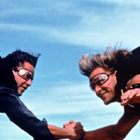 Patrick Swayze et Keanu Reeves, stars de Point Break