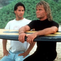Photo : Patrick Swayze et Keanu Reeves dans Point Break