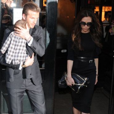 Victoria et David Beckham emmènent leur fille Harper à la Fashion Week de New-York en 2012.