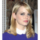 Emma Stone coiffure sage en promotion de The Amazing Spider-Man New York juin 2012