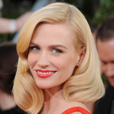 January Jones aux Golden Globes 2011