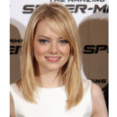 Emma Stone coiffure brushing baguette en promotion de The Amazing Spider-Man juin 2012 Rome