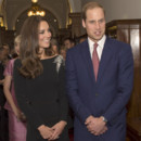 Kate Middleton et le Prince William à la Maison du gouvernement de Wellington le 10 avril 2014
