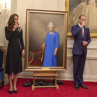 Kate Middleton et le prince William lors d'une cérémonie d'état à la maison du gouvernement de Wellington le 10 avril 2014