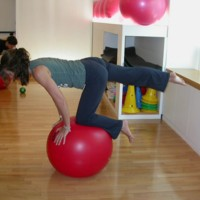 Exercice de swiss ball