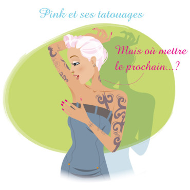 Pink fan de tatouages