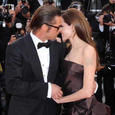 Brad Pitt et Angelina Jolie pour la projection de The Tree of Life en 2011 lors du Festival de Cannes